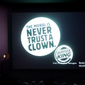 """Screen capture from a Burger King Deutschland YouTube video posted on Oct. 5, 2017, depicting a advertisement the fast-food chain projected on screen at the conclusion of the horror film """"It."""" (Burger King/YouTube)"""