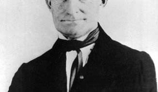 FILE - This 1857 file photo shows John Brown, leader of the historic raid on the federal arsenal and armory at Harpers Ferry, W.Va. Vermont has designated Oct. 16, 2017, John Brown Day in that state. Brown led the raid on Oct. 16, 1859, hoping to start an armed slave revolt. He was executed two months later. (AP Photo, File)