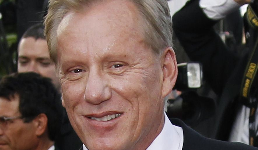 FILE - In this May 18, 2012 file photo, actor James Woods arrives for the screening of Once Upon a Time in America at the 65th international film festival, in Cannes, southern France. Woods said he is retiring from the entertainment industry. The news was included in a press release issued Friday, Oct. 6, 2017, by Woods' real estate agent offering Woods' Rhode Island lake house for sale. (AP Photo/Joel Ryan, File)