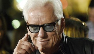 """In this Nov. 2, 2016, file photo, actor James Woods poses at the premiere of the film """"Bleed for This"""" at the Samuel Goldwyn Theater in Beverly Hills, Calif. Woods said he is retiring from the entertainment industry. The news was included in a press release issued Friday, Oct. 6, 2017, by Woods' real estate agent offering Woods' Rhode Island lake house for sale. (Photo by Chris Pizzello/Invision/AP, File)"""