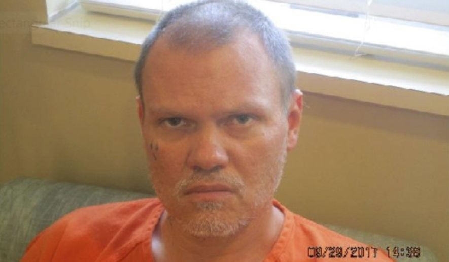 This photo provided by the Ohio Department of Mental Health and Addiction Services on Saturday, Oct. 9, 2017 shows Robert Gardner, 47. Officials said the inmate being treated at the Twin Valley Behavioral Healthcare Hospital in Columbus escaped on Saturday. The Morrow County Jail had transferred him to the hospital on Sept. 29 for treatment. He was being held on an aggravated robbery charge. (Ohio Department of Mental Health and Addiction Services via AP)