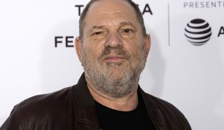 "In this April 28, 2017, file photo, Harvey Weinstein attends the ""Reservoir Dogs"" 25th anniversary screening during the 2017 Tribeca Film Festival in New York.  Attorney Lisa Bloom says she is no longer representing Weinstein as he confronts sexual harassment allegations. Bloom posted Saturday, Oct. 7,  2017, on Twitter that she has resigned as an adviser to Weinstein. She added that he and his board of directors are, quote, ""moving toward an agreement. (Photo by Charles Sykes/Invision/AP, File)"