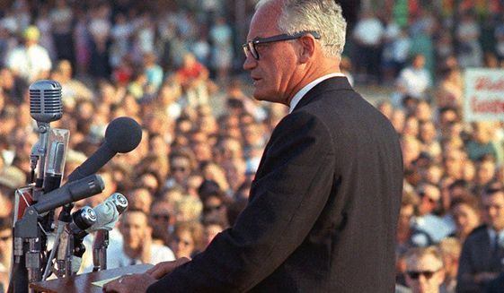 Barry Goldwater campaigning in 1964     Associated Press photo
