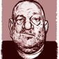 Illustration of Harvey Weinstein by Alexander Hunter/The Washington Times
