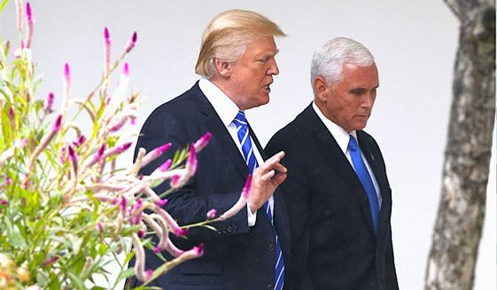 """""""So I give Trump and Pence credit for at least pushing back,"""" said radio host Rush Limbaugh regarding Vice President Mike Pence's walk out. (Associated Press)"""