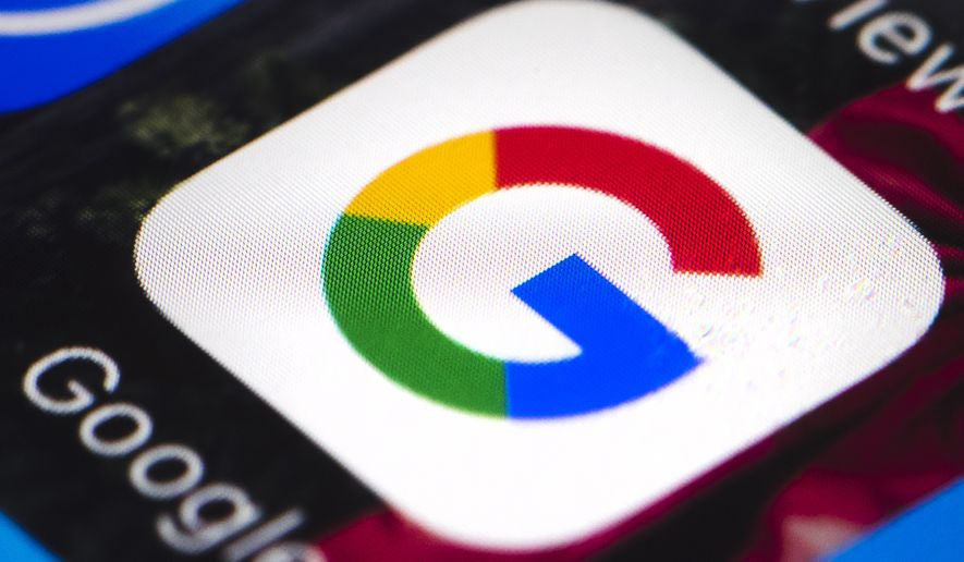 This Wednesday, April 26, 2017, file photo shows the Google mobile phone icon, in Philadelphia. Russian operatives spent tens of thousands of dollars on ads across Google products, including YouTube and Google search, according to reports. The Washington Post is reporting that the technology behemoth uncovered the Russian-backed disinformation campaign as it considers whether to testify before Congress in November 2017. Social media companies Facebook and Twitter have already agreed to testify. (AP Photo/Matt Rourke, File)