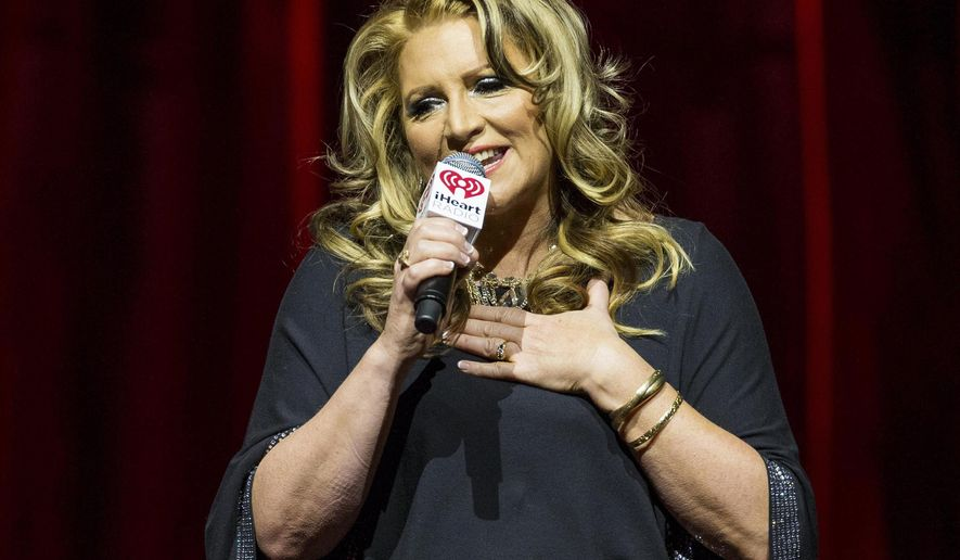 In this Feb. 21, 2015, file photo, on-air personality Delilah Rene hosts the iHeartRadio Ultimate Valentine's Escape at Brooklyn Bowl at the LINQ in Las Vegas. Rene announced on Facebook Saturday, Oct. 7, 2017, that her son took his own life on Oct. 3. (Photo by Andrew Estey/Invision/AP, File)
