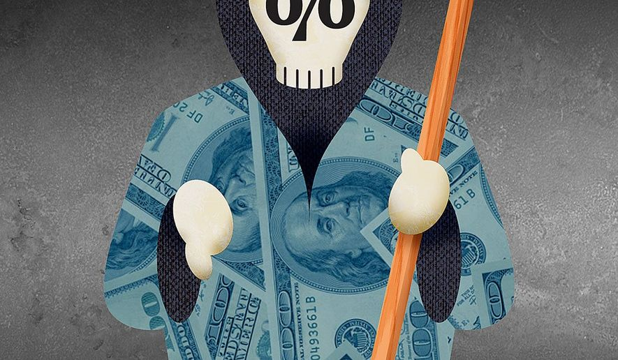 Tax Reaper Illustration by Greg Groesch/The Washington Times