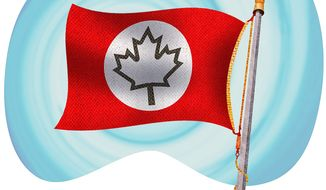 Alternate Canadian Flag Illustration by Greg Groesch/The Washington Times