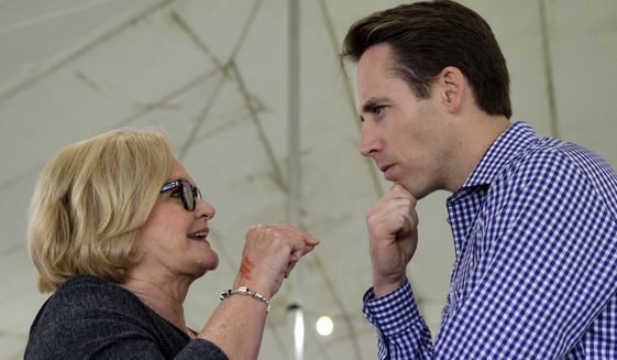 "Josh Hawley, a Republican who is challenging Sen. Claire McCaskill in Missouri, said, ""I do think the debacle with Justice Kavanaugh, what the Senate Democrats did in that case, is hugely motivating to Missouri voters."" McCaskill supporters agree that the Kavanaugh confirmation energized them, but many were already highly motivated to vote for the Democrat. (Associated Press/File)"