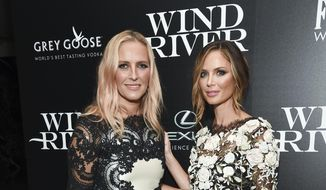 """In this Aug. 2, 2017, file photo, fashion designers Keren Craig, left, and Georgina Chapman, co-founders of Marchesa, attend a special screening of """"Wind River"""", in New York. (Photo by Evan Agostini/Invision/AP, File)"""