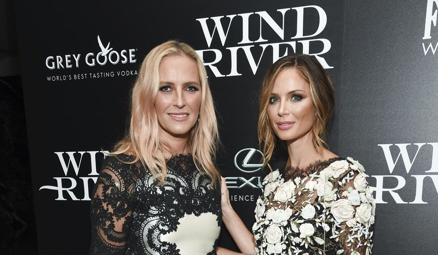 "In this Aug. 2, 2017, file photo, fashion designers Keren Craig, left, and Georgina Chapman, co-founders of Marchesa, attend a special screening of ""Wind River"", in New York. (Photo by Evan Agostini/Invision/AP, File)"