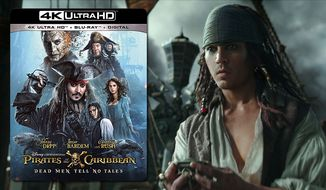 "A young Jack Sparrow (Johnny Depp) looks for trouble on the high seas in ""Pirates of the Caribbean: Dead Men Tell No Tales,"" now available on 4K Ultra HD from Walt Disney Studios Home Entertainment."