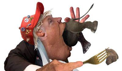 Illustration on trump's destructive attitude toward Republicans by Nancy Ohanian/Tribune Content Agency
