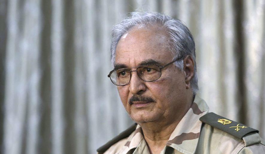 Libyan militia leader Gen. Khalifa Haftar commands the rebel forces. (Associated Press)