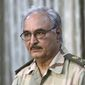 Libyan militia leader Gen. Khalifa Haftar, whom President Trump has publicly supported, has become mired in a months-old push to capture power in Libya. (Associated Press/File)