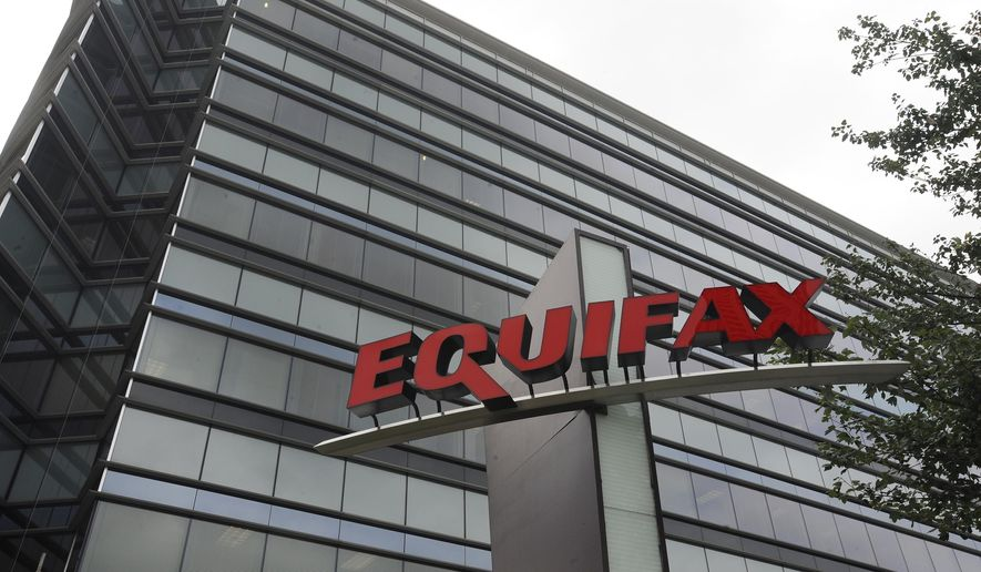 This July 21, 2012, file photo shows Equifax Inc., offices in Atlanta. (AP Photo/Mike Stewart, File)
