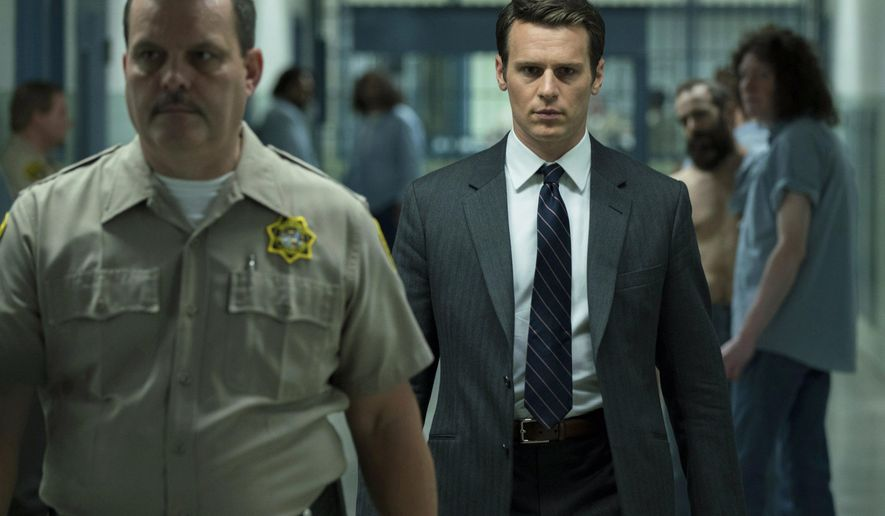 """This image released by Netflix shows Jonathan Groff in a scene from the 10-episode series, """"Mindhunter,"""" streaming on Netflix starting Friday. (Patrick Harbron/Netflix via AP)"""