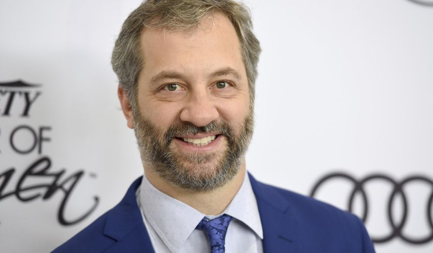 Judd Apatow arrives at Variety's Power of Women Luncheon at the Beverly Wilshire hotel on Friday, Oct. 13, 2017, in Beverly Hills, Calif. (Photo by Jordan Strauss/Invision/AP)