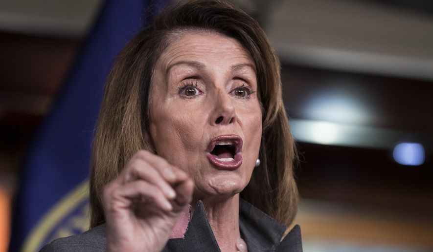 "House Minority Leader Nancy Pelosi, California Democrat, said Democrats are ""not about closing down government."" She said Republicans who call the shots on Capitol Hill bear responsibility for what happens next after President Trump halted payments to insurers under the Obama-era health care law. (Associated Press/File)"