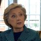 "Former Secretary of State Hillary Clinton falsely tells a BBC journalist that President Trump has admitted to ""being a sexual assaulter in the Oval Office."" (YouTube, BBC)"