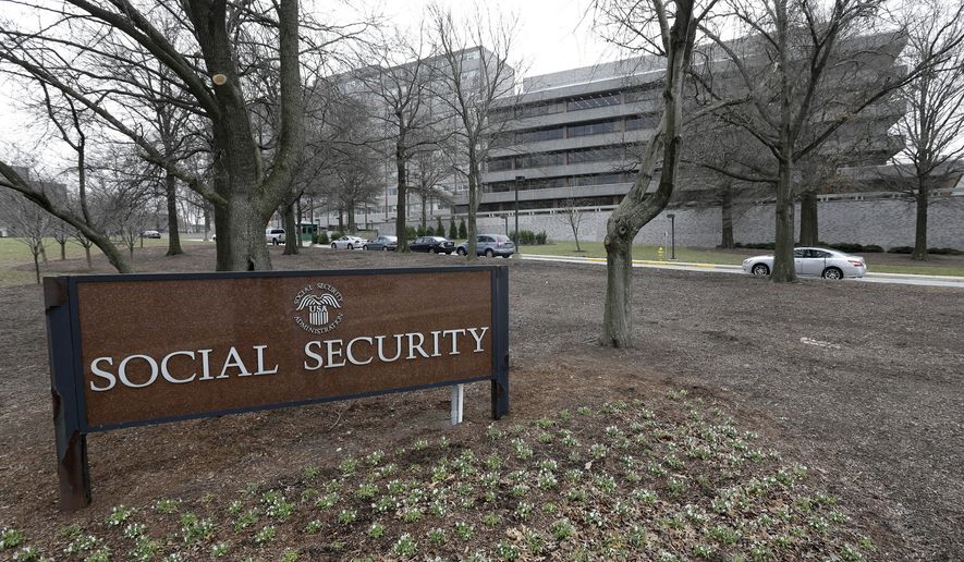 The Social Security Administration's main campus is seen in Woodlawn, Md., on  Jan. 11, 2013. (Associated Press) **FILE**