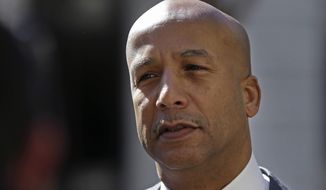 """FILE - In this Jan. 30, 2014 file photo former New Orleans Mayor Ray Nagin enters Federal Court for jury selection and possible opening arguments for his corruption trial in New Orleans. Nagin has asked a federal judge to throw out his corruption conviction, citing a recent Supreme Court decision making it more difficult to convict public officials of bribery. Acting as his own attorney, Nagin filed a motion Wednesday, Oct. 11, 2017, """"to vacate, set aside or correct"""" his 10-year sentence for bribery, """"honest-services"""" wire fraud, conspiracy to commit bribery and money laundering and filing false tax returns. (AP Photo/Gerald Herbert, File)"""