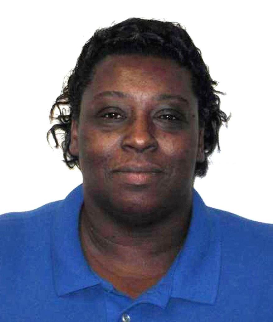 This undated photo made available by the North Carolina Department of Public Safety shows Corrections Enterprises Manager Veronica Darden. Authorities identified Darden as one of two employees killed Thursday, Oct. 12, 2017, during an attempted inmate escape from a North Carolina prison.  Darden trained inmates making vests and other embroidered items. (North Carolina Department of Public Safety via AP)