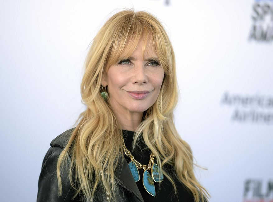 In this Feb. 25, 2017, file photo, Rosanna Arquette arrives at the Film Independent Spirit Awards in Santa Monica, Calif. (Photo by Richard Shotwell/Invision/AP, File)