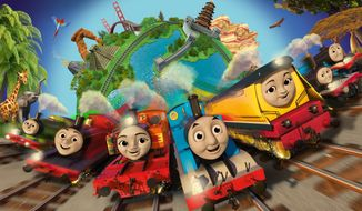 "This photo provided by Mattel, Inc. shows the new Steam Team appearing in the 2018 series of ""Thomas and Friends: Big World! Big Adventures!"" Formerly six boys and one girl, the new team will have three girls and four boys. (Mattel, Inc. via AP)"
