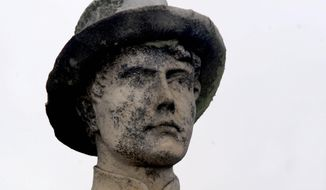 Before a renovation by the Ann Carter Lee chapter of the United Daughters of the Confederacy, the statue of a Confederate soldier in Bristol, Virginia, showed wear after being exposed to the elements for 90 years. (Associated Press/File)