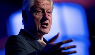 'doesn't apply' Ex-President Bill Clinton is missing from some lists of powerful men accused of sexually harassing or abusing women. (Associated Press)