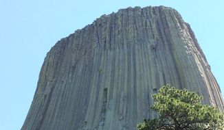 Devils Tower in Wyoming.  (Eric Althoff/The Washington Times)