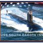 The USS South Dakota was christened in Groton, Connecticut, Oct. 14, 2017. (Image: U.S. Navy)