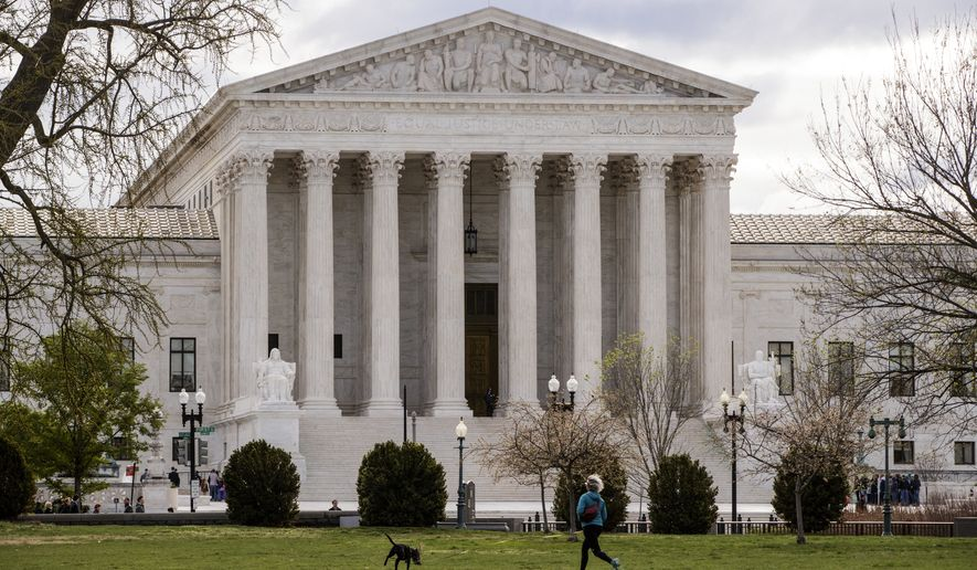 The Supreme Court in Washington is seen here on April 7, 2017. (Associated Press) **FILE**