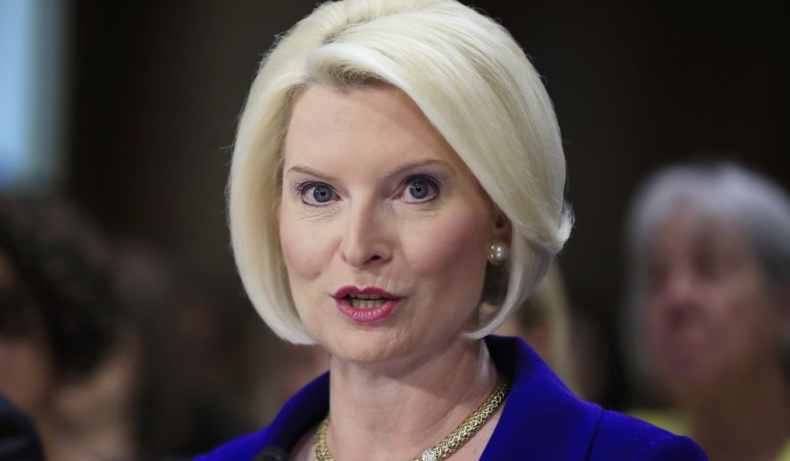 Callista Gingrich of Virginia, wife of former House Speaker Newt Gingrich, testifies on Capitol Hill in Washington, on her nomination to become U.S. Ambassador to the Vatican. Gingirch was confirmed on Oct. 18 by the Senate. (AP Photo/Manuel Balce Ceneta, File)
