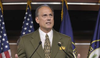 In this Sept. 23, 2011, file photo, Rep. Thomas Marino, R-Pa., speaks during a news conference on Capitol Hill in Washington. (AP Photo/Susan Walsh) ** FILE **