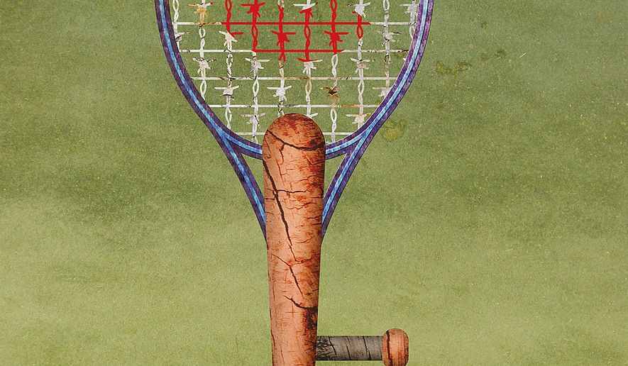 The Clinton Protection Racquet Illustration by Greg Groesch/The Washington Times