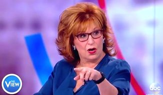 "Comedian Joy Behar told her co-hosts of ""The View"" on Oct. 17, 2017, that industry peers should be immune from criticism because they are too culturally ""important."" (Image: ABC, ""The View"" screenshot)"