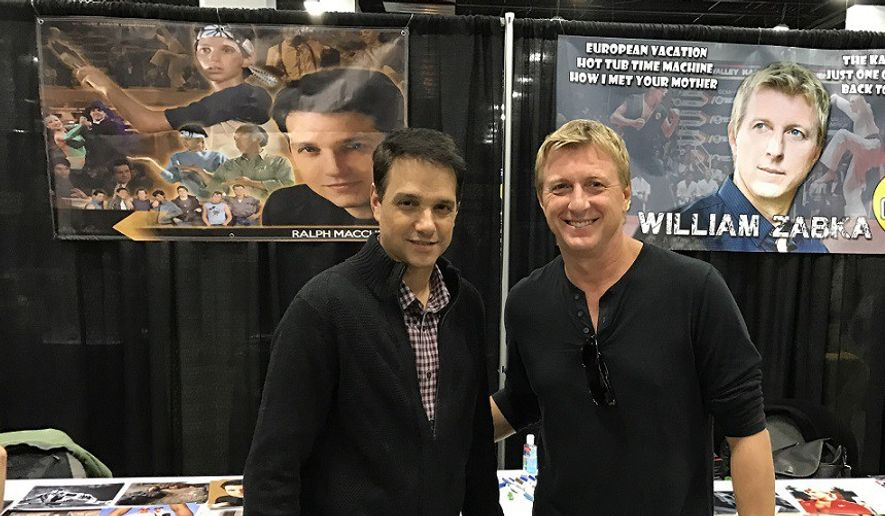 """Karate Kid"" stars Ralph Macchio (left) and William Zabka will reunite for the YouTube revival series ""Cobra Kai"" in 2018.  (The Comic's Comic)"