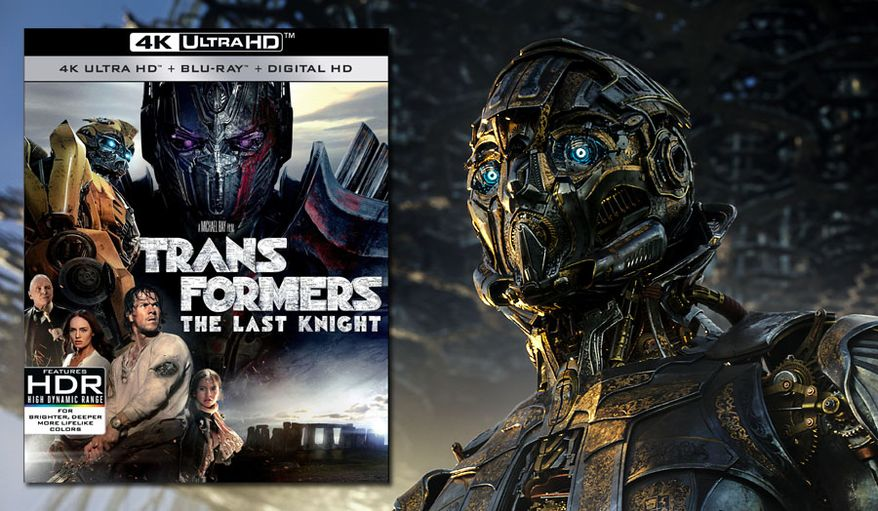 "The impressively designed robot Cogman serves Sir Burton in ""Transformers: The Last Knight,"" now available on 4K Ultra HD from Paramount Pictures Home Entertainment."