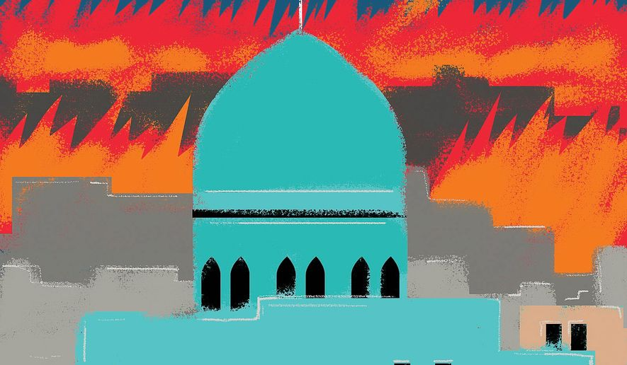 Illustration on the fall of Kirkuk by Linas Garsys/The Washington Times