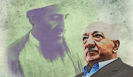 Illustration of Fethullah Gulen by Greg Groesch/The Washington Times