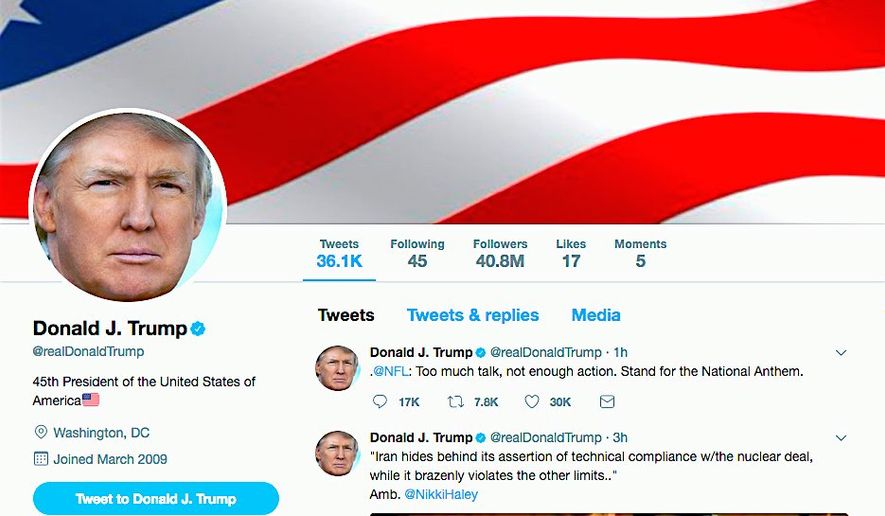 Judges have used President Trump's tweets to undercut his policies. On Tuesday, a federal judge in Maryland cited Mr. Trump's tweets as an example of bad policy-making. (Twitter)