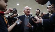 Sen. Lamar Alexander, R-Tenn., chairman of the Senate Health, Education, Labor, and Pensions Committee, talks to reporters on Capitol Hill in Washington, Wednesday, Oct. 18, 2017. (AP Photo/Carolyn Kaster)