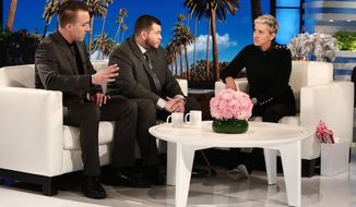 "Jesus Campos (center) appears on ""The Ellen DeGeneres Show,"" Oct. 18, 2017. (Image: Twitter, Ellen DeGeneres)"
