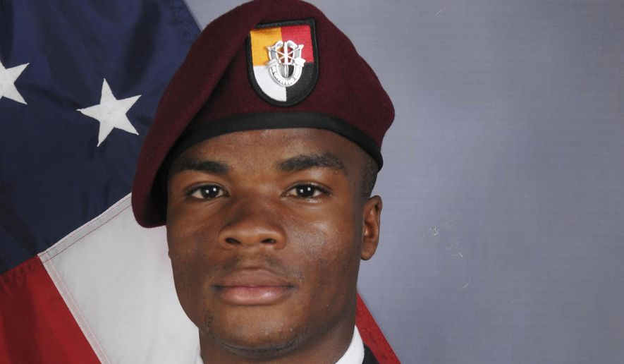 This photo provided by the U.S. Army Special Operations Command shows Sgt. La David Johnson, who was killed in an ambush in Niger. (U.S. Army Special Operations Command via AP)