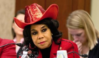 In this Nov. 18, 2015, file photo, House Education and the Workforce Committee member Rep. Frederica Wilson, D-Fla., attends a conference of House and Senate negotiators try to resolve competing versions of a rewrite to the No Child Left Behind education law, on Capitol Hill in Washington. (AP Photo/Jacquelyn Martin, File)