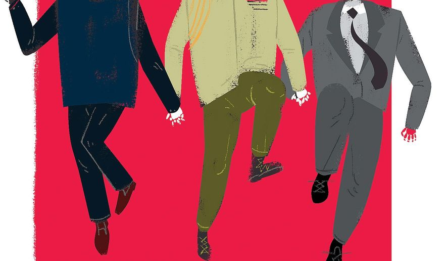 Illustration on the clique of dictators by Linas Garsys/The Washington Times