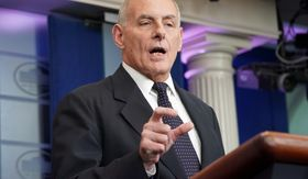 White House Chief of Staff John F. Kelly's marine son was killed in 2010 when he stepped on a landmine on patrol in Afghanistan. (Associated Press)